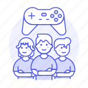 1, championship, egames, esports, game, group, league, male, team, teammate, video icon