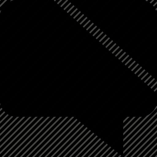 diagnol, line, talking, text icon