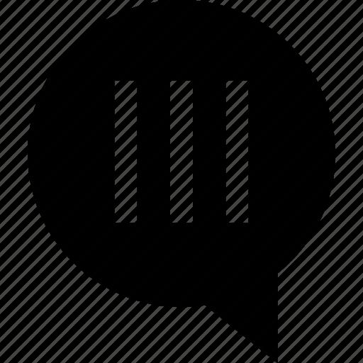 lines, talking, text, three icon