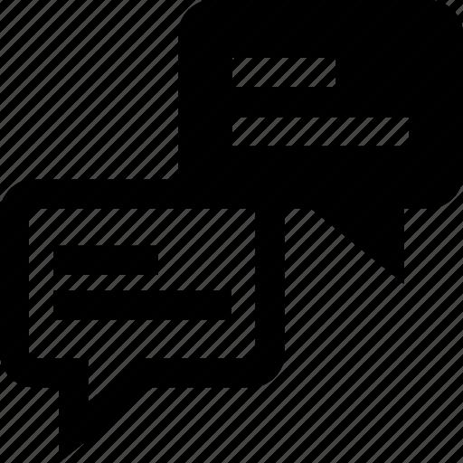 talking, text, two icon