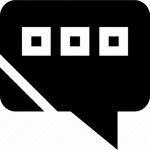 dots, talking, text, three icon