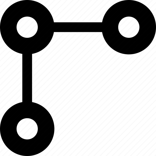 connect, dots, three icon