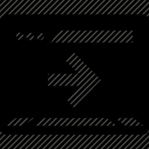 arrow, point, right, web icon
