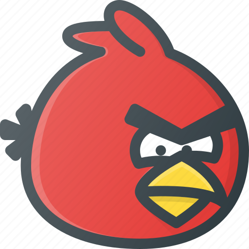 angry, bird, birds, game, play, video icon