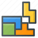 bricks, game, play, tetris, video icon