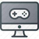computer, desctop, game, play, video icon