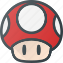 play, mushroom, toad, mario, game, video
