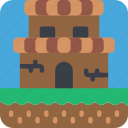 castle, game, gamer, interactive icon