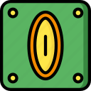 block, coin, game, gamer, interactive icon
