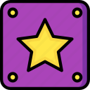 block, game, gamer, interactive, star icon