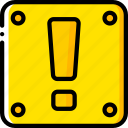 alert, box, game, gamer, interactive icon