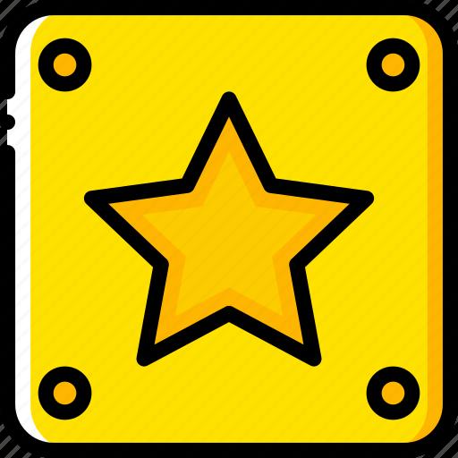 block, game, gamer, interactive, star icon