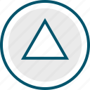 arrow, play, point, ps, up icon
