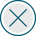 cross, delete, stop, x icon