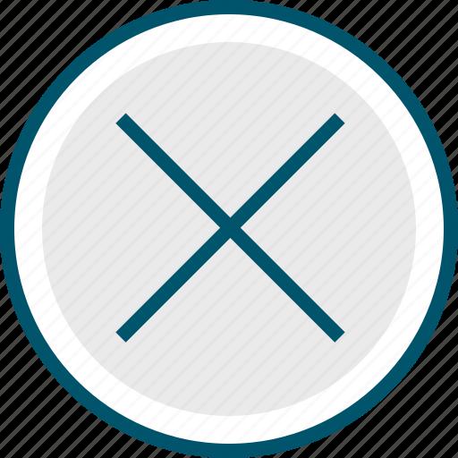 cross, delete, stop, x icon
