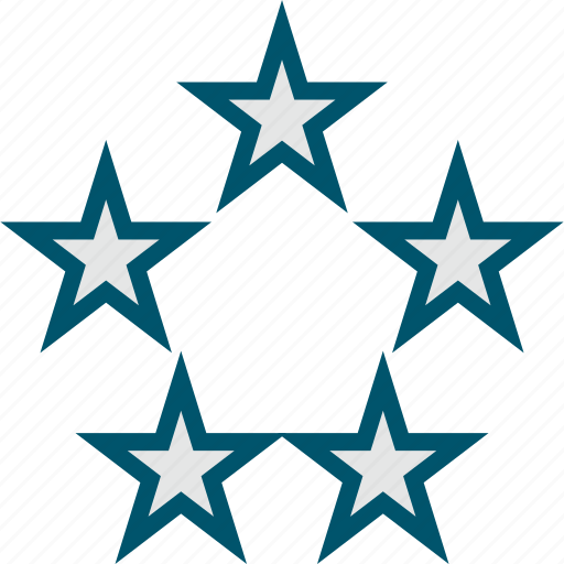 favorite, five, stars icon