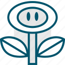 flower, game, luigi, mario, powerup, retro, video icon