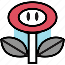 flower, gaming, powerup, retro icon