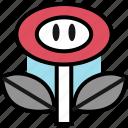 flower, gaming, powerup, retro icon