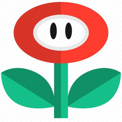 fire, flower, game, gaming, power, up, video icon