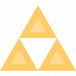 game, gaming, link, triangles, video icon