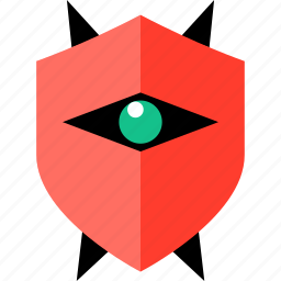 enemy, eye, game, gaming, shield, video icon