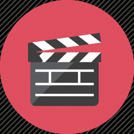 movie, slate icon