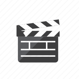 movie, slate icon