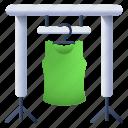 clothes rack, clothes hanger, wardrobe, shirt hanger, shirt rack