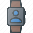 call, conference, meeting, online, smartwatch, video icon