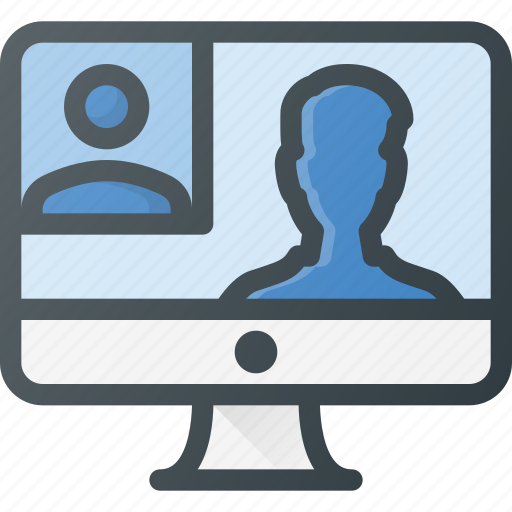 conference, meeting, online, video icon
