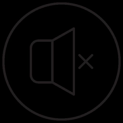 music, mute, off, sound, speaker, video, volume icon
