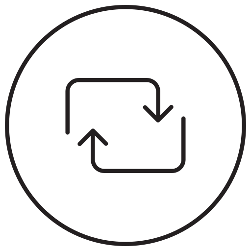 Recycle, refresh, reload, repeat, rotate, sync icon - Free download