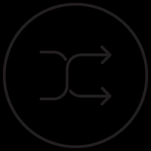 Arrow, btn, direction, mix, mixer, random, shuffle icon - Free download