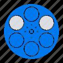 film, movie, reel, tank, tape