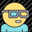 3d, 3d glasses, 3d movie, glasses