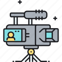 camcorder, camera, movie camera, professional movie camera