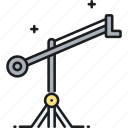 camera, camera crane, crane, lifting icon