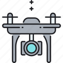 aircraft, camera, drone, drone camera, uav icon