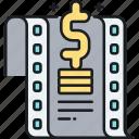 budget, film, film budget, movie, movie budget icon