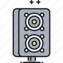 loudspeakers, speakers icon