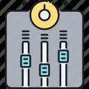 equaliser, equalizer, mixing, tuning icon