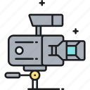 camera, movie camera, professional movie camera, videography icon