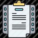document, letter, scenario, script