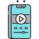 mobile phone, phone, player, smartphone icon