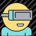 reality, virtual, virtual reality, vr icon