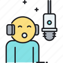 mic, microphone, sing, speech, voice, voiceover icon