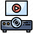 cinema, picture, projector, technology, video icon