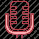 electronics, microphone, radio, sound, vintage