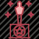 award, awards, entertainment, oscar, oscars, trophy icon